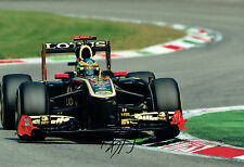Bruno SENNA SIGNED Formula 1 Lotus 12x8 Photo AFTAL COA Autograph