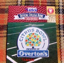 Official 2018 Overton's Citrus Bowl Game Patch Notre Dame Irish vs LSU Tigers