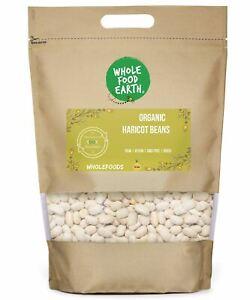 Organic Haricot Beans   Raw   Vegan   GMO Free   Dried