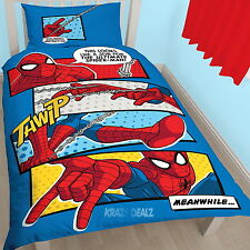 Ultimate Spiderman Webhead Single Panel Duvet Cover Bed Set New Gift Marvel