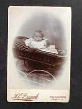 Victorian Cabinet Card: French: Wellington Somerset: Baby In Pram