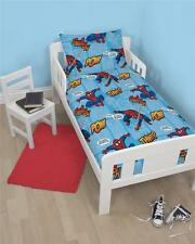 DISNEY SPIDERMAN THWIP JUNIOR CHARACTER 4 in 1 COT BED BUNDLE TO FIT TODDLER BED