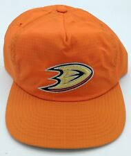 e002e5cefda83 NHL Anaheim Mighty Ducks Mitchell   Ness Adjustable Zip Fit Cap Beanie M N  ...