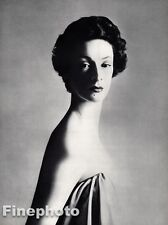 1953 Vintage 16x20 MARELLA AGNELLI Italy Fashion Model Art Fiat RICHARD AVEDON