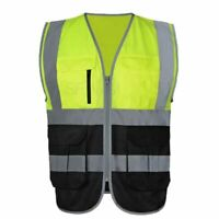 Men And Woman High visibility Safety Vests Work Wear Red Reflective Construction