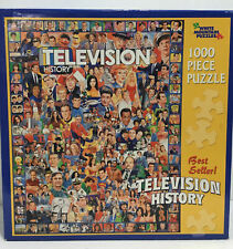 Television History 1000 Piece Jigsaw Puzzle White Mountain Puzzles Complete-Fun!