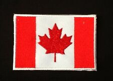 CANADA CANADIAN RED MAPLE LEAF COUNTRY FLAG BADGE IRON SEW ON PATCH BACKPACKER