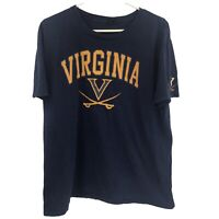 Virginia Cavaliers Mens XL Blue Orange T Shirt UVA Adult Tee College