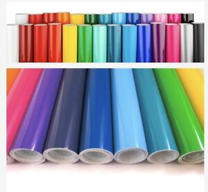 Permanent Outdoor Adhesive Vinyl Sheet Roll 30cm x 1m for Cricut / Silhouette