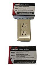 Cooper Vgf20V Gfci Duplex Outlet, 125V, 20 Amp, Ivory. Pack of 3