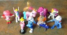 9 Pc. Lot My Little Pony, Strawberry Shortcake, Smurfs and Nintendo Peach Toys