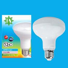 8x 12W R80 Reflector Spot Light LED ES Bulb E27 Daylight White 6500K Lamp 1000lm