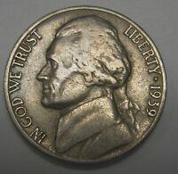Key Date 1939-S Jefferson Nickel In The FINE  Range  DUTCH AUCTION