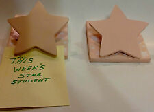 Set Of 2 Pink Wooden Star Wall Hanging Clips