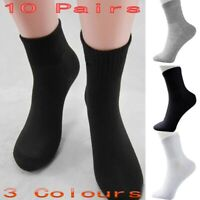 10 Pairs Men Winter Socks Thermal Casual Soft Cotton Sport Sock Gift 3 Colors US