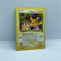 Pokemon Birthday Pikachu Holo Rare #24 Black Star Promo - WOTC HUGE SWIRL! LP-NM