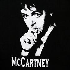 Paul Mccartney The Beatles band ***SMALL*** screen printed t-shirt Black