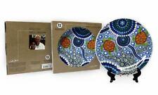 Australia Souvenir Display Plate Stand Aboriginal Dot Art Turtle Colours Reef