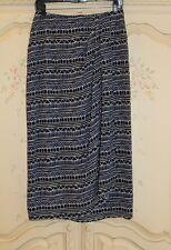 NEW $89 LIZ CLAIBORNE Flirty Navy Boho Sarong Faux Wrap Pencil Skirt Wm's 10P