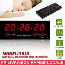 Électronique DEL Digital Horloge Murale, Température Humidité Affichage 24 heure