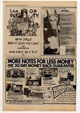 Ian Dury Really Glad You Came Jimmy Hoover Advert NME Cutting 1983