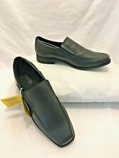 Smartfit Slip On Black Mule Dress Shoe Boys 168321 Youth Sz 4 New with tags