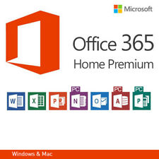 MS Office 365 Home Premium 5 PC - 5 MAC - 1 Year Subscription Office 2016 UK