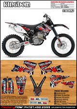 Kingdom Motocross Graphics KTM SX & SXF 2005-2006 DIRT BIKE GRAPHICS DECO KIT