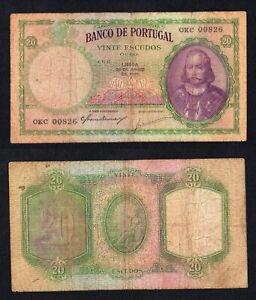 Portogallo 20 escudos 1951  BB-/VF-  A-01