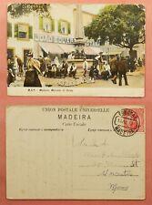 1910 PORTUGAL MADEIRA POSTCARD FUNCHAL TO USA