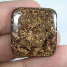 22.90 Ct  Flashy Square shape brown Color 100% Natural Bronzite cabochon