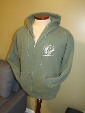 YAMAHA Rhino HOODIE Green Full Zip Hooded Sweatshirt RARE