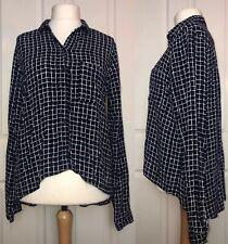 Topshop Tall Dip Hem Shirt / Blouse Size 14
