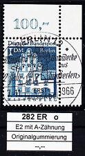 37) Berlin 282 ESST Berlin mit Gummi Ecke 2 Eckrand 2 oben rechts OR gestempelt