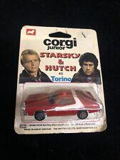 1/64 DIECAST CORGI JR STARSKY AND HUTCH FORD GRAN TORINO on Card