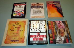 6 books ROLLING STONE JOURNALISM INTERVIEWS PSYCHEDELIC MUSIC CULTURE CINEMA LSD
