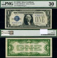 FR. 1604 $1 1928-D Silver Certificate H-B Block PMG VF30