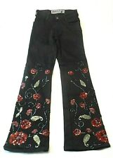 Parasuco Womens Jeans Size 26 Embellished Sequins Beads Embroidery Stretch