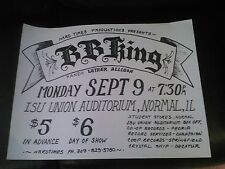 BB KING BLUES  CONCERT POSTER