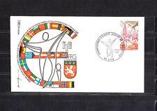 FRa/ enveloppe  championnat d' Europe juniors de gymnastique  Lyon 1980