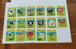 1981 Fleer card Football Teams in Action Helmet Logo lot (17) Stickers VINTAGE