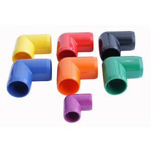 "Biotek Marine Colored PVC 90 Degree Elbow Fittings  - 1 1/2"", 1"", 3/4"" and 1/2"""