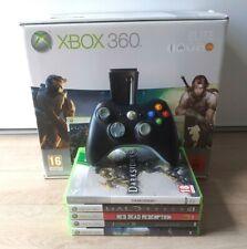 Console Microsoft XBOX 360 Elite Halo 3 & Fable 2 + 2 Manette + 5 Jeux - TBE