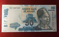 Banknote, Malawi, 50 Kwacha, 1.1.2012, P. 58, unc