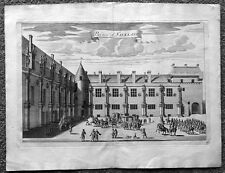 1718 Slezer Old, Antique Print a View of Falkland Palace in Fife, Scotland