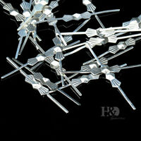 300PCS Silver Crystal Chandelier Octagon Beads Connector Bowtie Repair Parts 33#