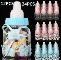 12 Pack Fillable Bottles for Baby Shower Favors Blue Pink Party Decorations AU