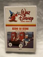 BETA Walt Disney Home Video Kids Is Kids Starring Donald Duck Excellent Like New
