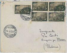 ITALIA REPUBBLICA - 3 Lire Risorgimento 2 coppie + 1 su busta 1949