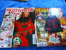 2 livres   complets avec modéles  catalogues poiNTS DE CROIX ET TRICOT marianne